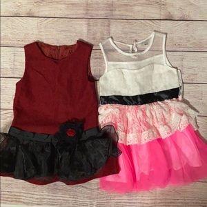 (2) ruffle dresses